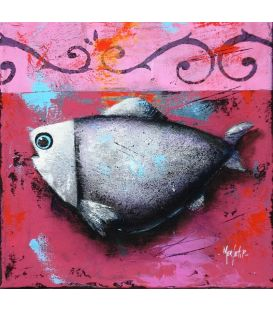 Fish on pink background