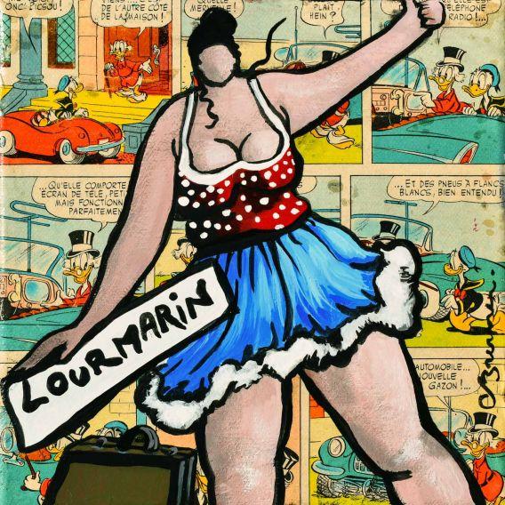 Julie part en vacances à Lourmarin - Petit format sur toile de Corinne Brenner
