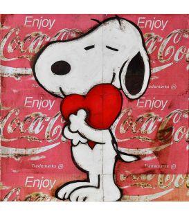 Le coeur de Snoopy - Tableau de kromo