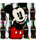 Mickey on advertising background for Coca-Cola - Painting by Kromo