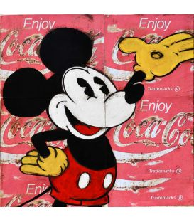 Mickey greets you - Painting by Kromo