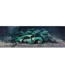 Porsche for sale - Painting by Bertrand Lefebvre