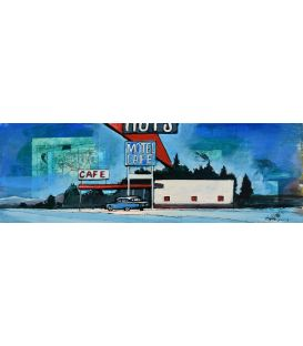 Roy's - Motel café - Peinture de Bertrand Lefebvre