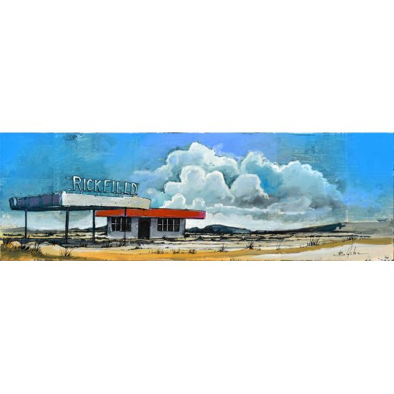 Rickfilld station - Painting by Bertrand Lefebvre