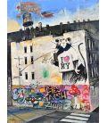 Banksy NY - Painting by Bertrand Lefebvre