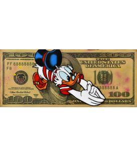 Picsou sur un billet de 100 Dollars