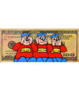 Les Rapetou sur un billet de 100 Dollars