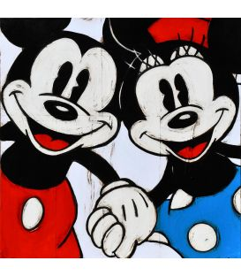 Mickey et Minnie se tiennent par la main