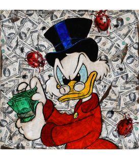 Picsou compte son argent - Tableau de Kromo