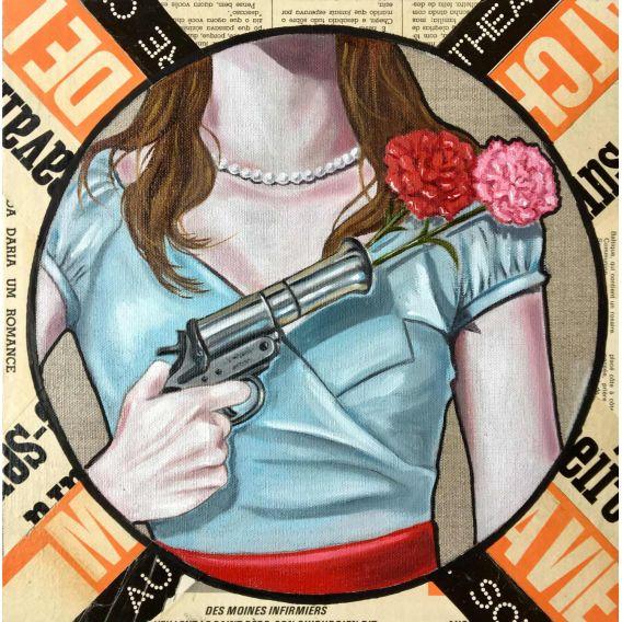 Coup de fleurs - Tableau d'Elisabet Cargnello