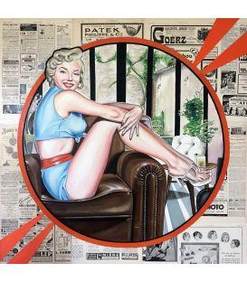 Marilyn Monroe fait la une - Tableau d'Elisabete Cargnello