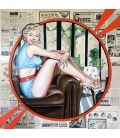 Marilyn Monroe hits the headlines - Painting by Elisabete Cargnello