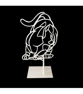 Le petit chat blanc n°1/50 - Sculpture anamorphique de Pascal Buclon