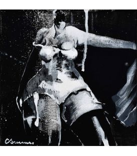 Series girl in black and white n°2 - Corinne Brenner's painting