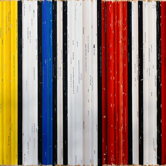 Composition with red, yellow and blue - Mondrian - Soundtrack n°81 - Painting by Didier Delagdo