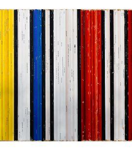 Composition avec du rouge du jaune et du bleu - Mondrian - Bande son n°81 - Tableau de Didier Delgado