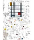 Composition with red, yellow and blue - Mondrian - Work document