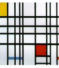 Composition with red, yellow and blue - Mondrian - Original painting used as color guide
