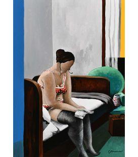 Chez Edward, Julie lit sur le lit