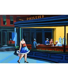 Julie walks in Nighthawks