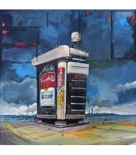 Zaire sugar motel - Painting by Bertrand Lefebvre