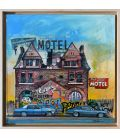 Fair lane motel - Detroit - Framed in oak wood