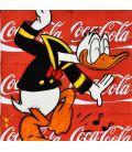 La danse de Donald Duck sur fond de Coca Cola - Tableau de Kromo