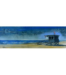 Lifeguard hut in Malibu