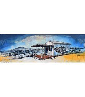 Cartel de Santa - Cabane en bois - Tableau de Bertrand Lefebvre