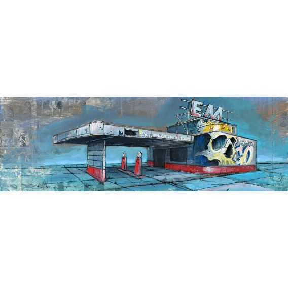 Revolution starts in the street - Station EM - Painting by Bertrand Lefebvre
