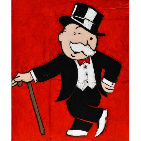 Mister Monopoly - Give me some money - Painting by Kromo