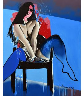 Break in seductive pose - Painting by Corinne Brenner