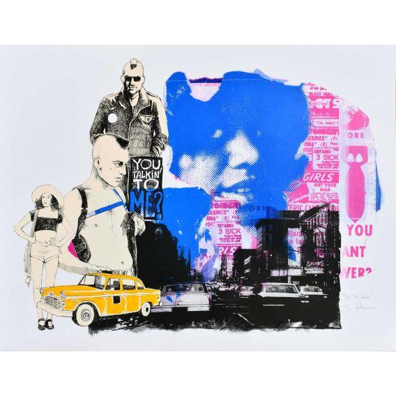 Taxi driver - Silkscreen by Bertrand Lefebvre