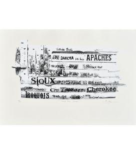 God bless America - Noir et blanc - Sérigraphie de Bertrand Lefebvre