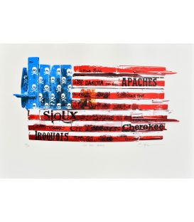 God bless America - Silkscreen by Bertrand Lefebvre