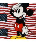 Mickey on the background of the American flag
