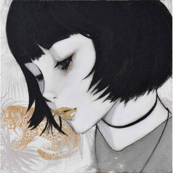Des visages, des figures - Manga - Tableau de Yann Kempen