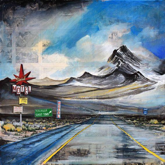 Stardust Motel - Route 66 - Tableau de Bertrand Lefebvre