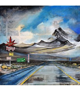 Stardust Motel - U.S. Highway 66 - Painting by Bertrand Lefebvre