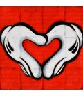 My heart my love - Mickey Freemason white gloves on a Coca-Cola background