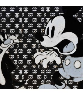 Not him - Sylvester and Mickey on Chanel background