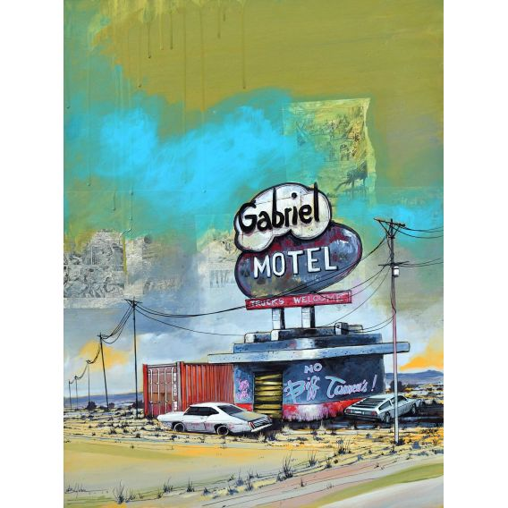 Gabriel Motel - Painting by Bertrand Lefebvre