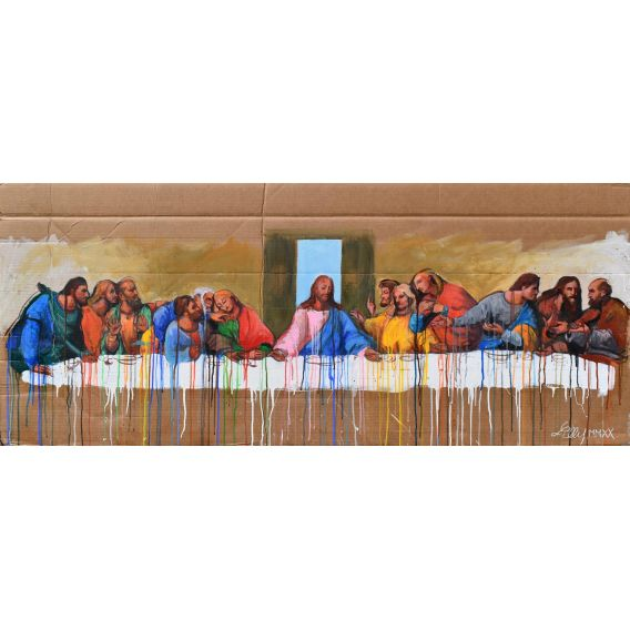 The Last Supper of Jesus - Painting by Lilly