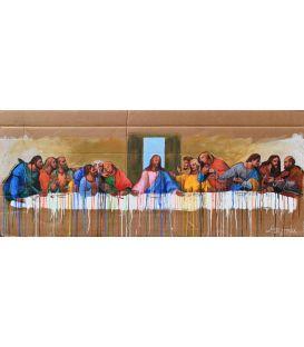 La cène - Le dernier repas de Jésus - Tableau de Lilly