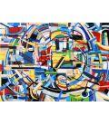 Abstraction des restes n°17 - Acrylique sur toile de Didier Delgado