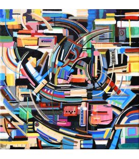 Abstraction of the remains n°14 - Acrylic on canvas by Didier Delgado
