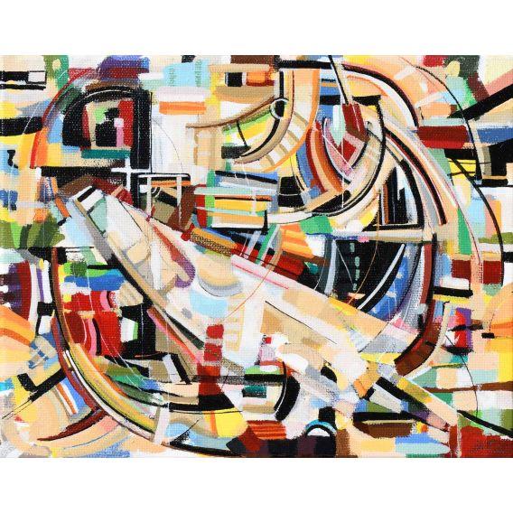 Abstraction des restes n°12 - Acrylique sur toile de Didier Delgado