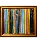 La nuit étoilée - Van Gogh - Bande son n°91 - Composition faite avec des disques vinyles