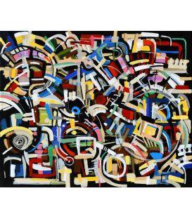 Abstraction des restes n°25 - Acrylique sur toile de Didier Delgado