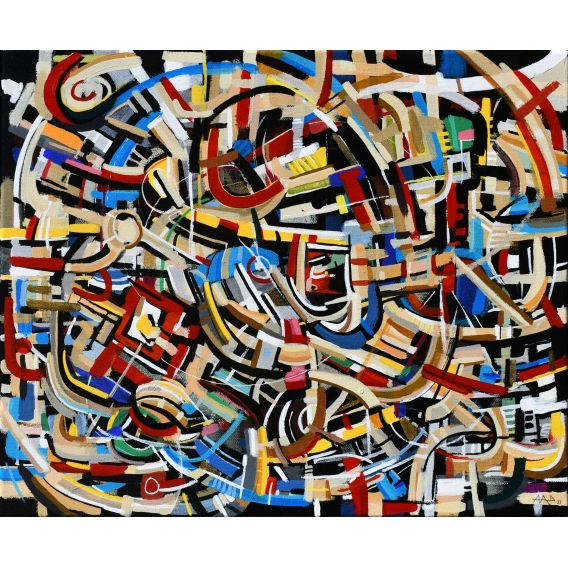 Abstraction of the remains n°27 - Acrylic on canvas by Didier Delgado